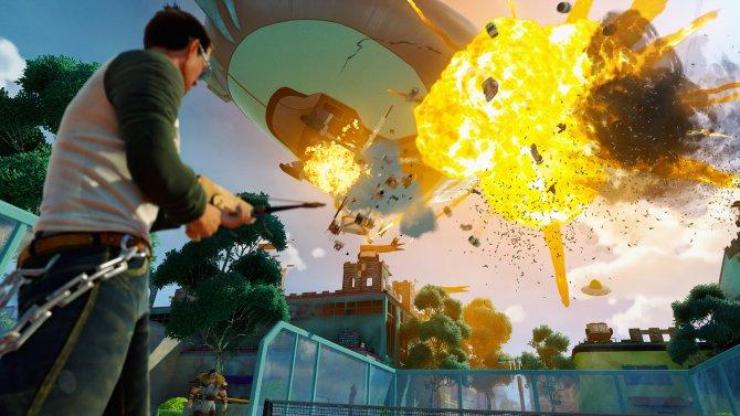 Взрывы в Sunset Overdrive выглядят не хуже, чем в голливудском кино.