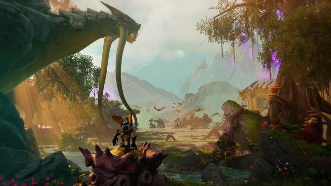 Ratchet Clank Rift Apart с механикой прыжков между мирами выглядит любопытно.