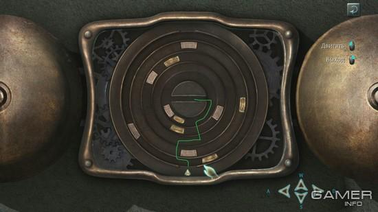 Стрелочку нужно загнать точно в центр, не соприкасаясь при этом с другими элементами механизма.