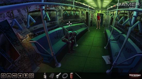 Вот такая «позитивная» картина встретит нас в первом же вагоне метро.