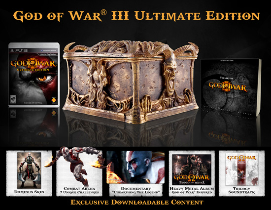 Комплект поставки God of War 3 Ultimate Edition