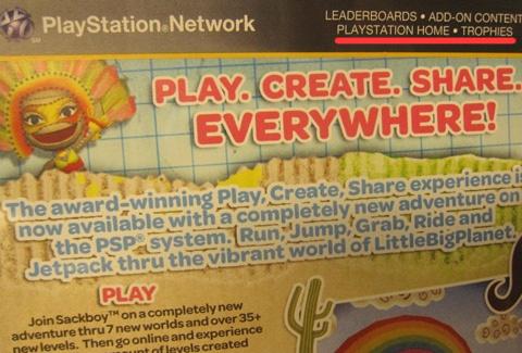 Ошибка на корбке LittleBigPlanet PSP