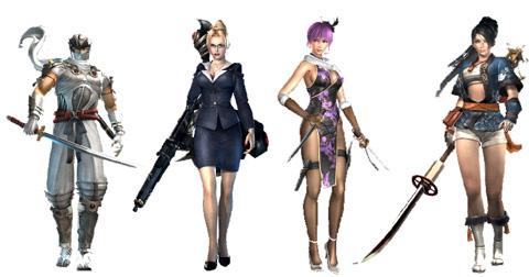 Новые комтюмы персонажей Ninja Gaiden Sigma 2