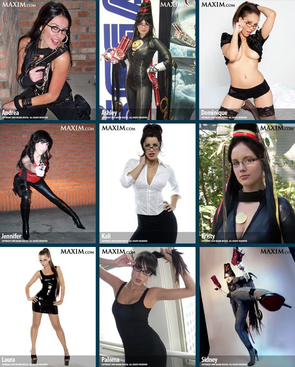 Все участницы конкурса моделей на лучшую Bayonetta