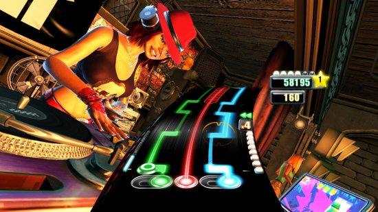 Скриншот первой части DJ Hero
