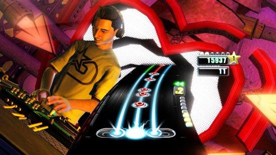 Скриншот из первой части DJ Hero