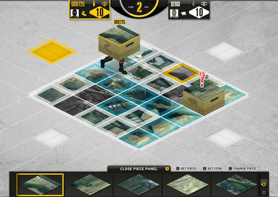 Вот так выглядит пазл флэш-игра на сайте Metal Gear Solid Piece Walker