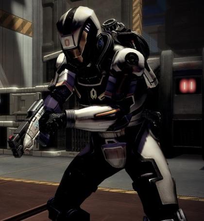 Шепард в Cerberus Assault Armor