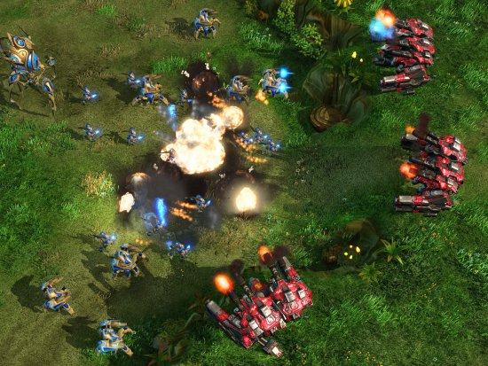 Скриншот с игры Starcraft 2