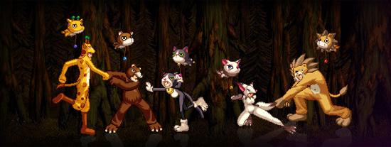 Костюмы диких животных в Dungeon Fighter Online