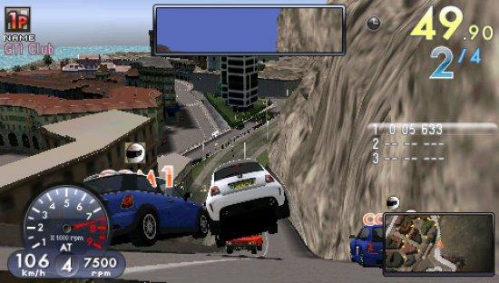 Скриншот PSP версии GTI Club Supermini Festa!