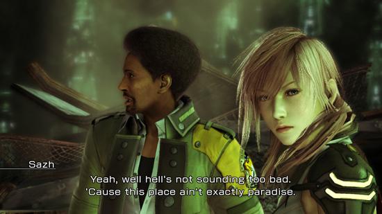 Скриншот Final Fantasy XIII с Xbox-360 версии