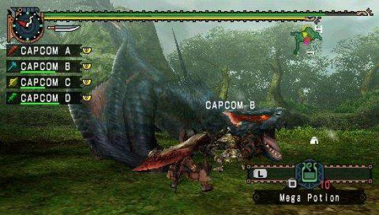 Скриншот из игры Monster Hunter Freedom Unite