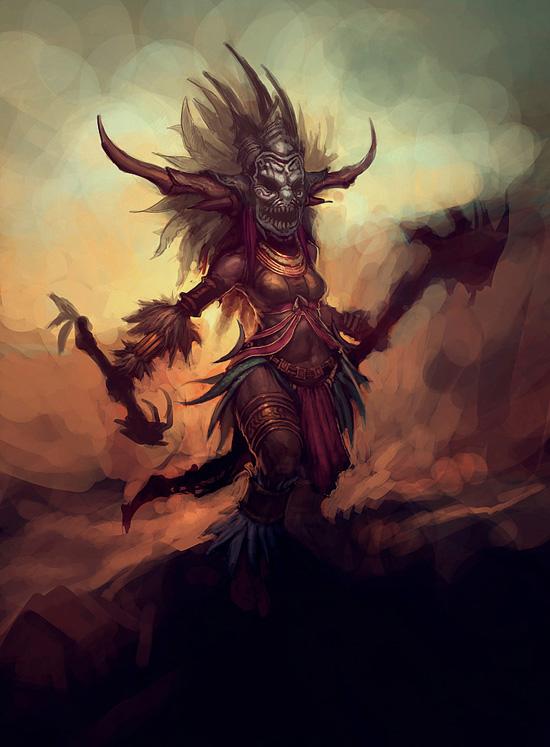 Вот так будет выглядеть женщина шаман из Diablo III