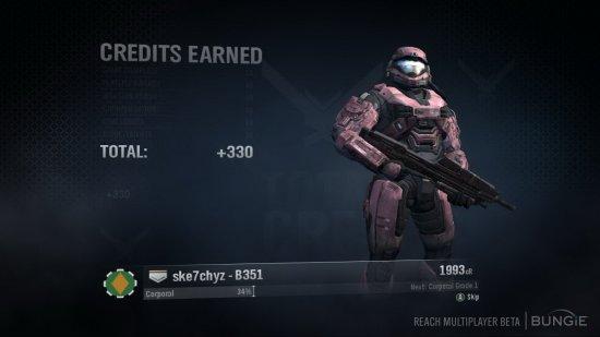 Credits в Halo: Reach