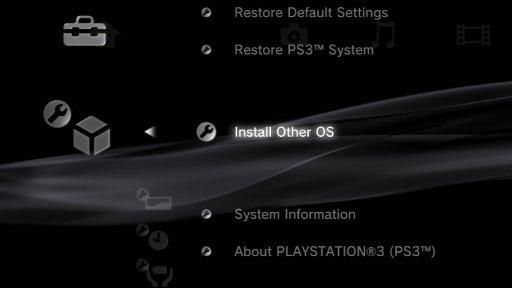Установка другой ОС на PlayStation 3