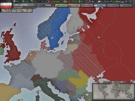 Скриншот игры Hearts of Iron 3