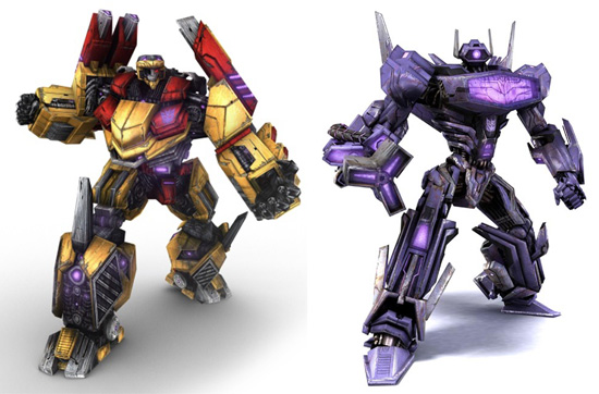Demolishor и Shockwave из игры Transformers: War for Cybertron