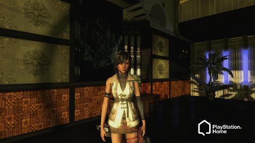 Аватар в PS Home в костюме Лайтнинг