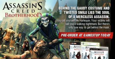 Предзаказ Assassin's Creed: Brotherhood