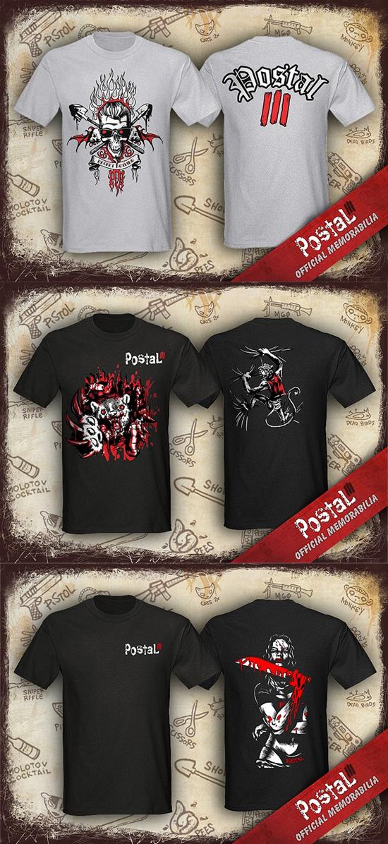 Эксклюзивные футболки Postal III