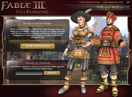 Создай своего жителя в Fable III