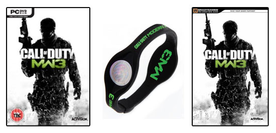 CoD: MW3, брендированный браслет, Брэди-гид по игре