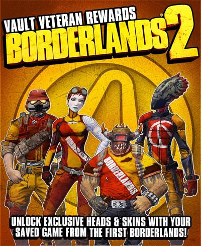 Бонусы в Borderlands 2 при наличии сохранений с первой части