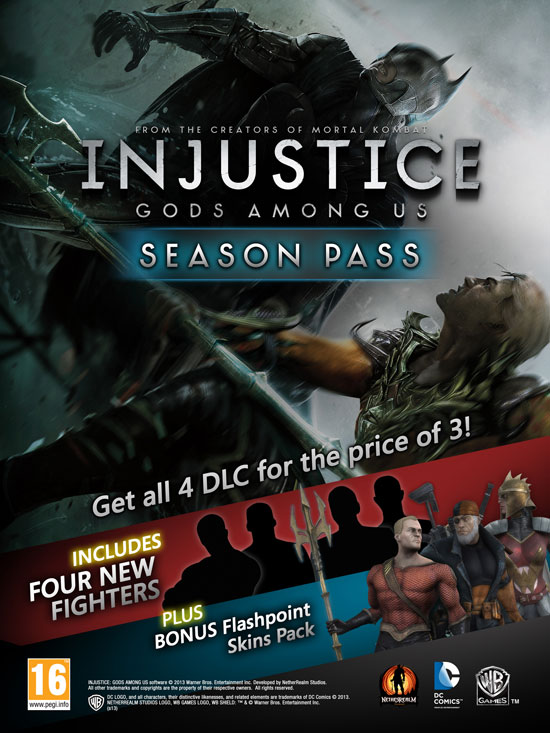 Season Pass для Injustice: Gods Among Us.