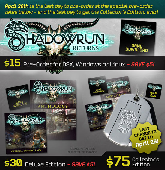 Релиз Shadowrun Returns состоится в июне