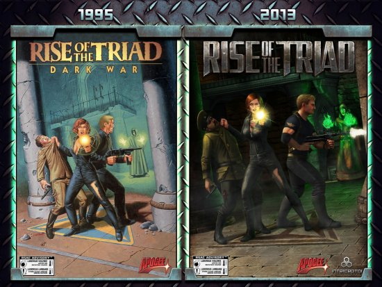 Обложки оригинала и римейка Rise of the Triad