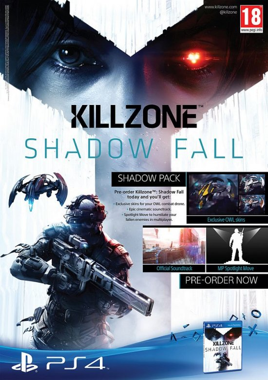 Бонусы за предзаказ Killzone: Shadow Fall