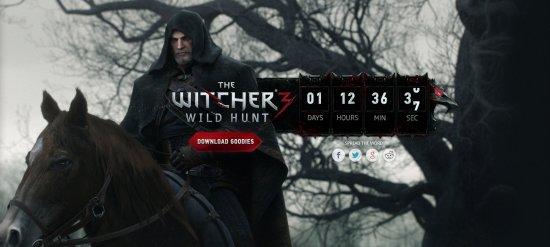 Отсчет на сайте The Witcher 3
