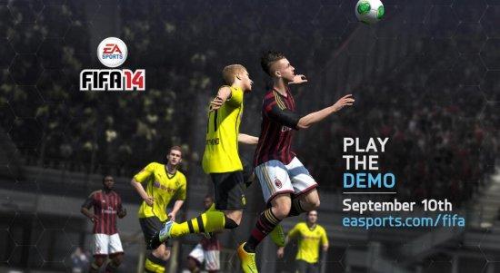 Демоверсия FIFA 14 выйдет 10 сентября