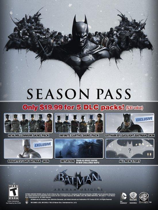Анонс Season Pass для Batman: Arkham Origins