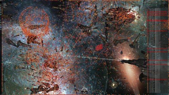 Каждый из кораблей (часть из них из-за масштаба представлена цветными квадратами) – реальный игрок, который много часов подряд провел в крупнейшей виртуальной битве.
