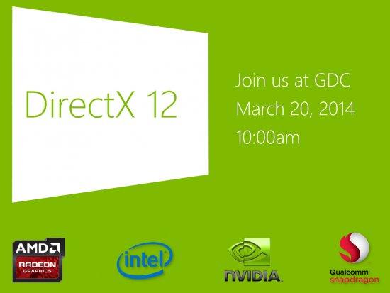 DirectX 12 будет представлен 20 марта