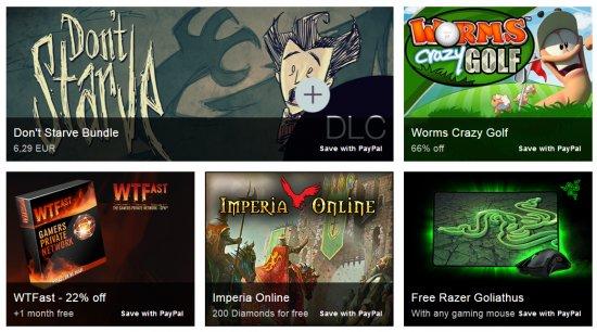 Вторая неделя распродажи игр от PAYPAL