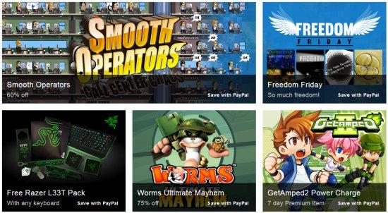Пятая неделя распродажи игр от PAYPAL