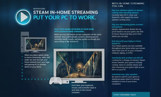 Steam In-Home Streaming – играй даже на слабом ПК у телевизора