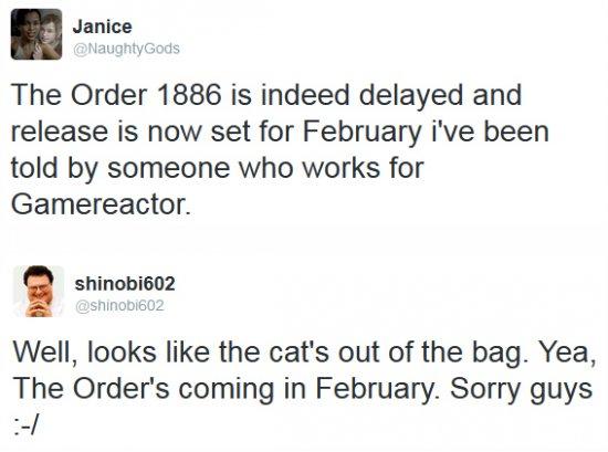 The Order: 1886 не выйдет в этом году