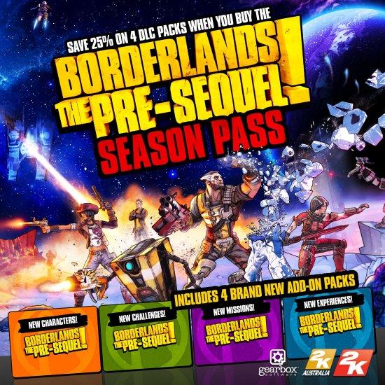 Анонсирован сезонный пропуск для Borderlands: The Pre-Sequel
