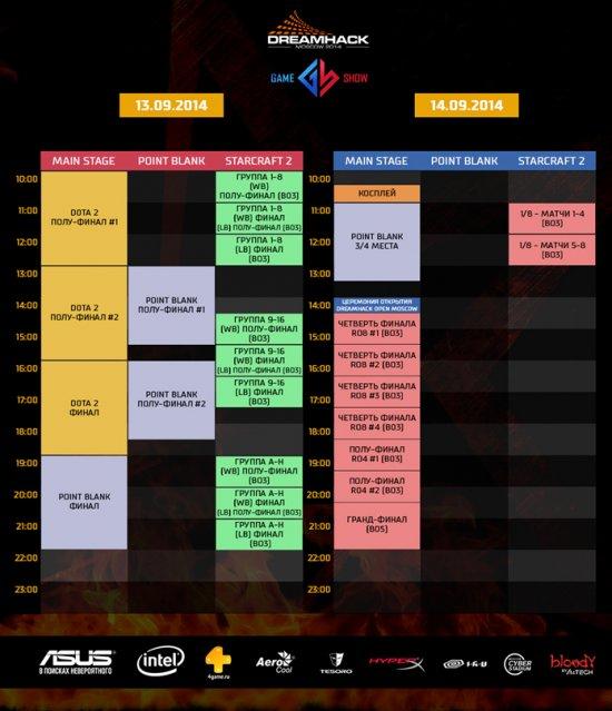 Полное расписание мероприятий