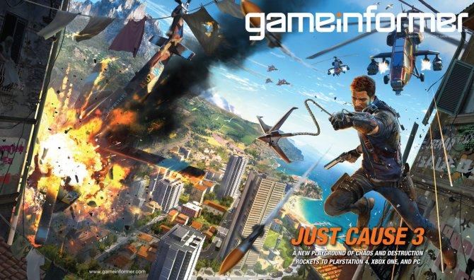 Just Cause 3 будет представлен в декабрьском номере Game Informer