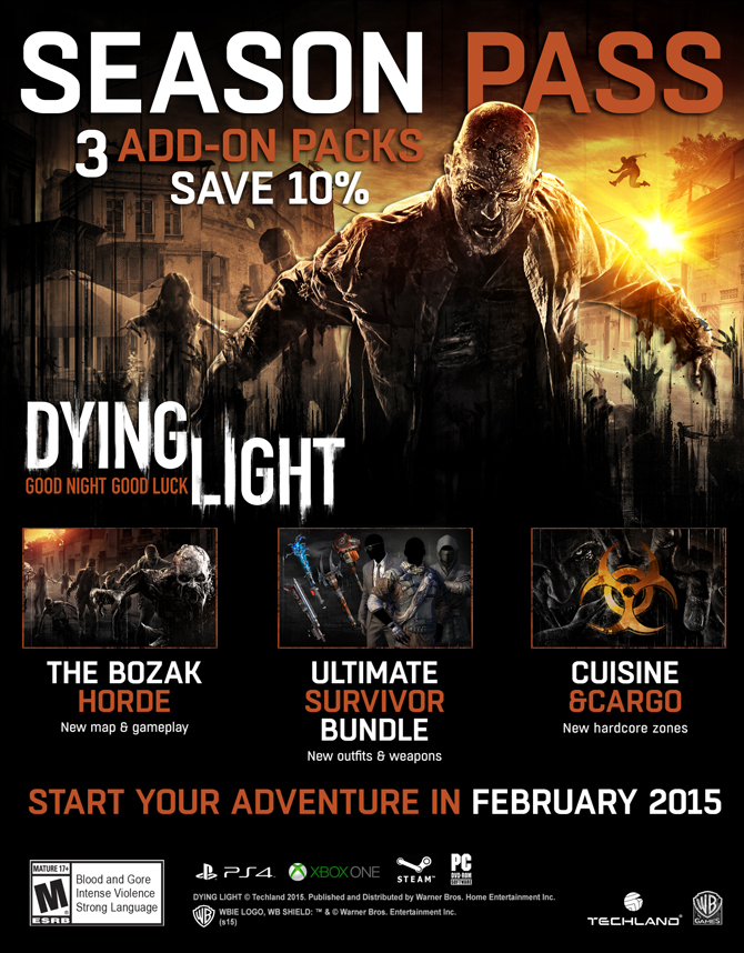 Детали Season Pass для Dying Light