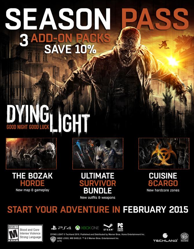 Детали Season Pass для Dying Light