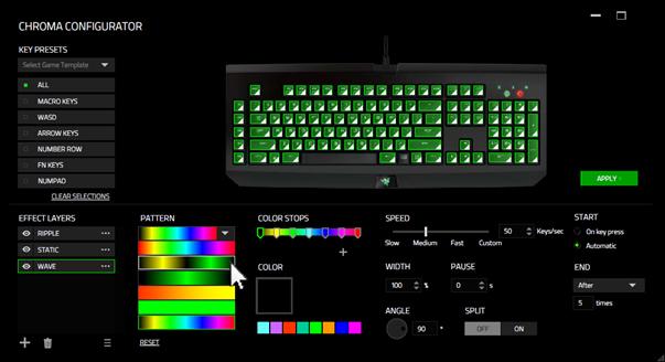 Razer Synapse добавляет новые функции клавиатуре BlackWidow Chroma