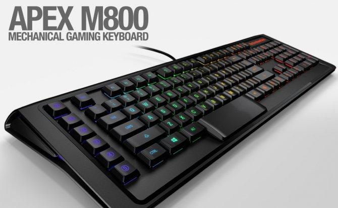 SteelSeries представляет самую быструю в мире механическую клавиатуру Apex M800