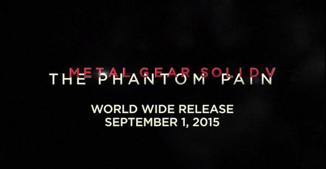 Metal Gear Solid V: The Phantom Pain выйдет 1 сентября