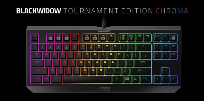 В продажу поступила клавиатура Razer BlackWidow Tournament Edition Chroma